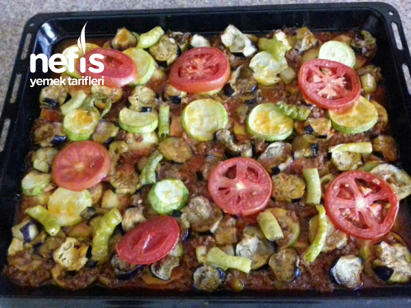 Patlıcan Kabak Patates Kıymalı Oturtma