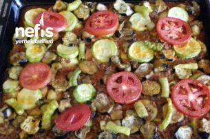 Patlıcan Kabak Patates Kıymalı Oturtma Tarifi