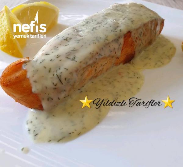 Tavada Kızarmış Somon Balığı (Sosuyla)