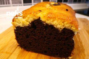 Baton Kek /Yumuşacık İki Renkli Kek (Videolu) Tarifi
