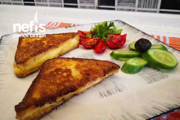 Fransız Tostu / Yumurtalı Tavada Tost Tarifi (Videolu)