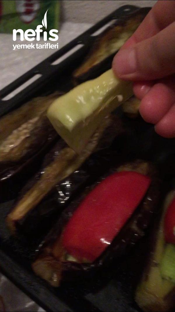 Kışlık İçin Kızartılmış Karnıyalık Patlıcan