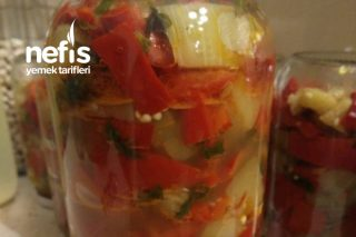 Yağlı Sirkeli Patlıcan – Biber Turşusu Tarifi