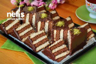 3 Malzemeli Çok Gösterişli Pasta Yapımı (videolu) Tarifi