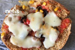 Bazlamadan Sağlıklı Pizza Tarifi