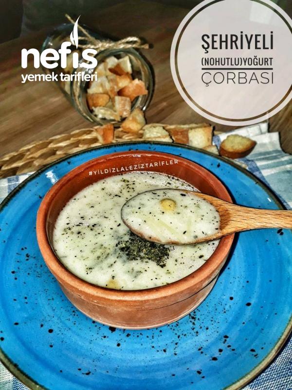 Şehriyeli (Nohutlu)Yoğurt Çorbası