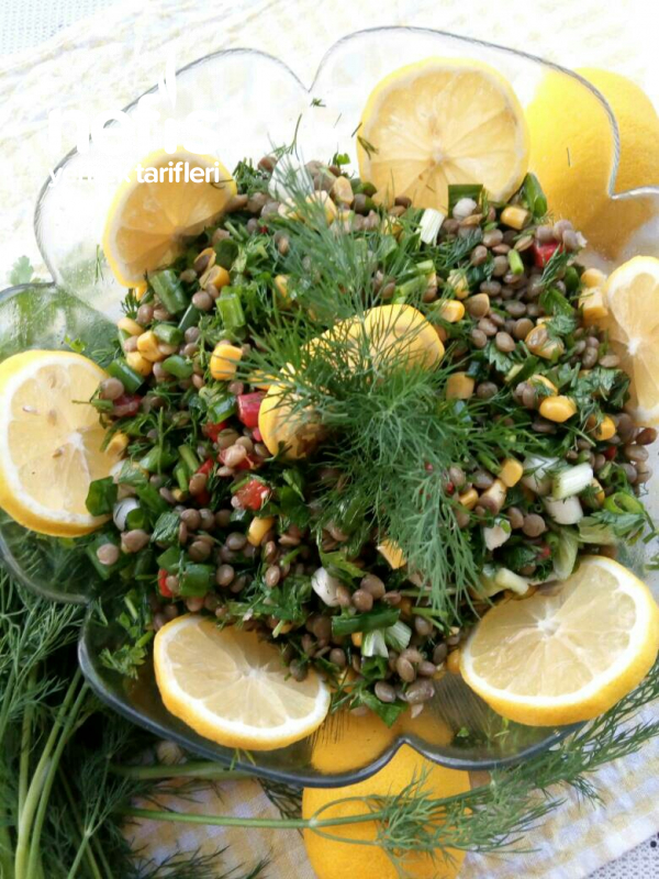 Yeşil Mercimek Salatası (Sağlıklı Doyurucu)