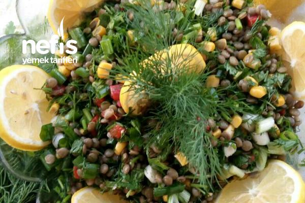 Yeşil Mercimek Salatası (Sağlıklı Doyurucu) Tarifi