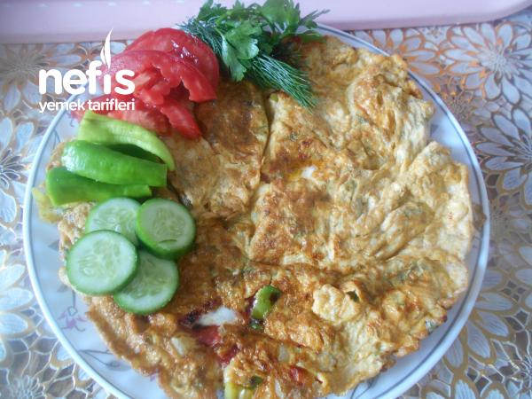Peynirli Sebzeli Baharatlı Omlet