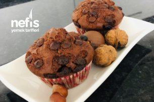 Damla Çikolatalı Kakaolu Muffin Tarifi