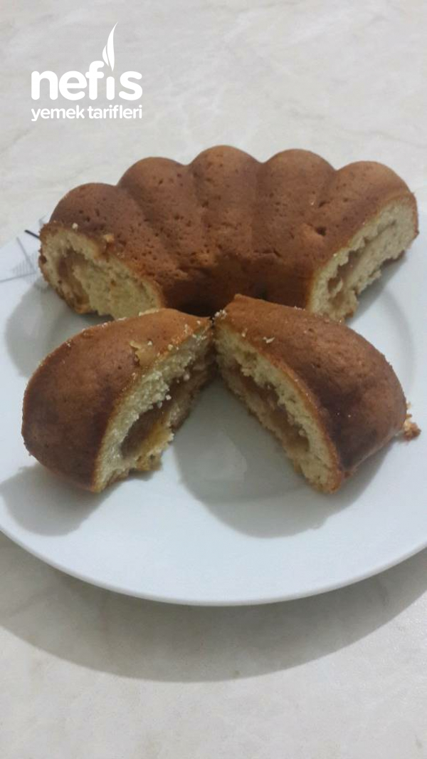Kek Kalıbında Elmalı Kurabiye