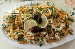 Havuçlu Turp Salatası ( Bol Ekşili ) Tarifi