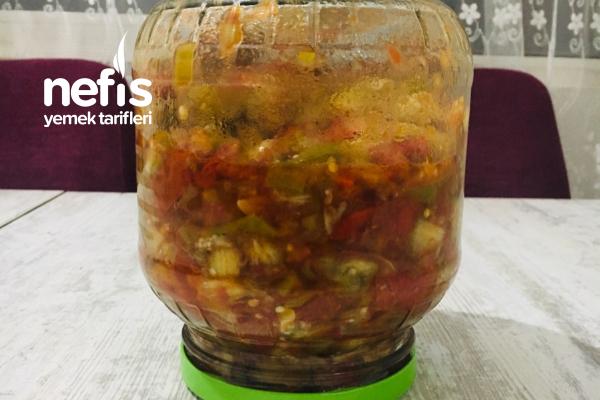 Konserve Köz Patlıcan Salata Tarifi