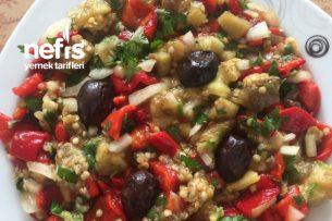 Köz Biber Ve Patlıcan Salatası Tarifi