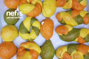 Vitamin Deposu Renkli Puf Poğaça Tarifi (Videolu)