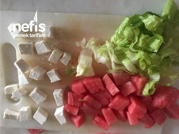 Proteinli Karpuz Salata