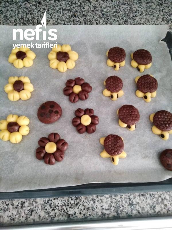 Çiçek Ve Kaplumbağa Şekilli Kurabiyeler