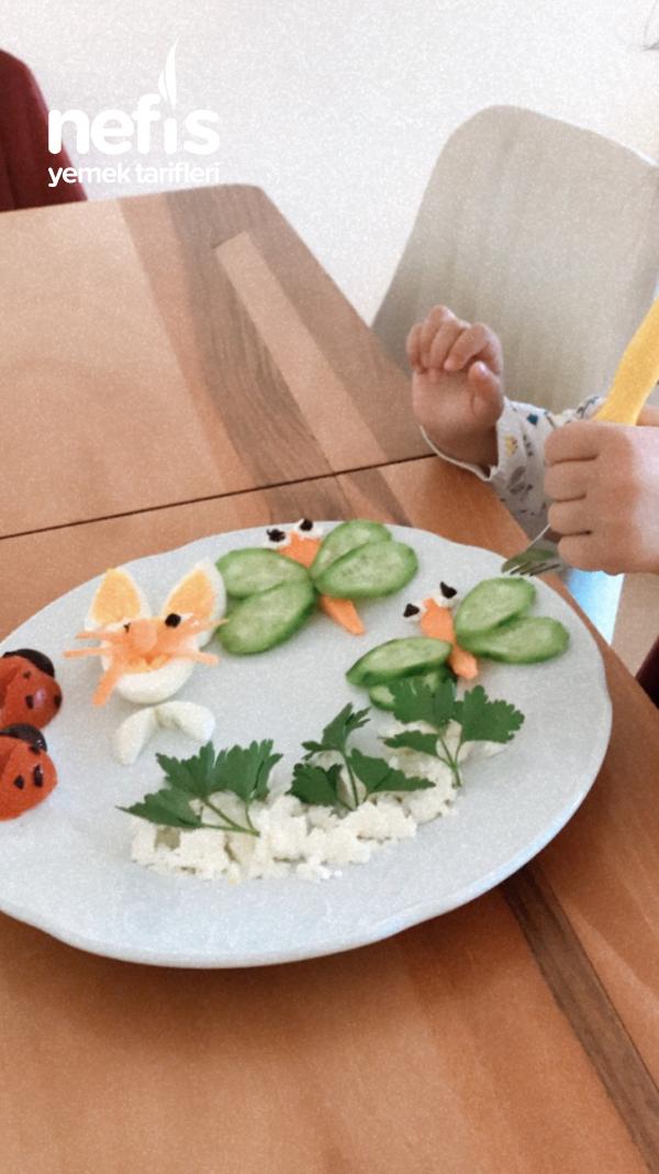 Çocuklar İçin Kahvaltı Tabağı
