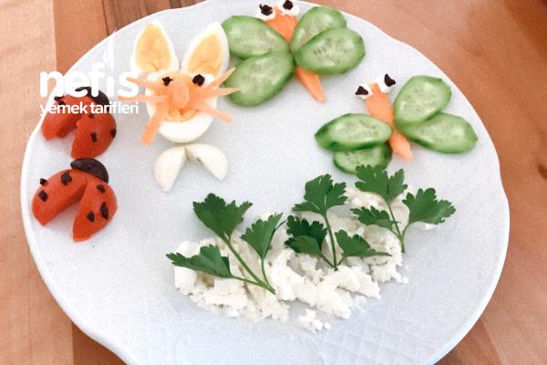 Çocuklar İçin Kahvaltı Tabağı Tarifi