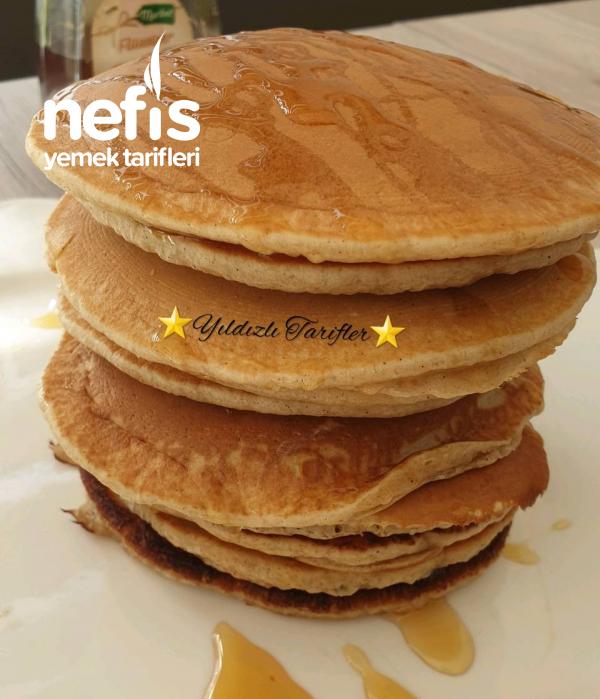 Gingerbread-Pancakes (Ballı Baharatlı) (Videolu)