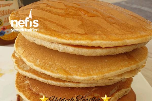 Gingerbread-Pancakes (Ballı Baharatlı) (Videolu) Tarifi