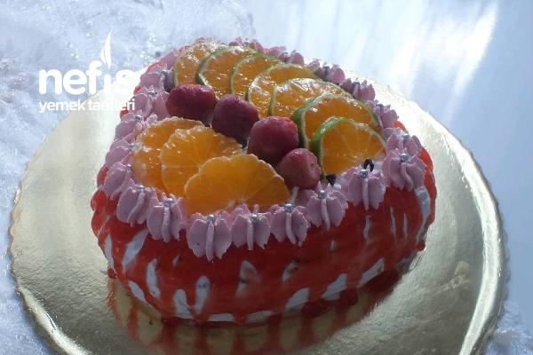 Meyveli Doğum Günü Pastası (Videolu) Tarifi