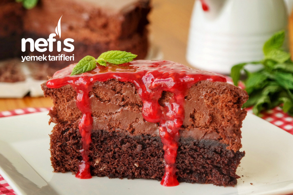 Köpük Çikolatalı Pasta (Mousse Kremalı) (videolu) Tarifi