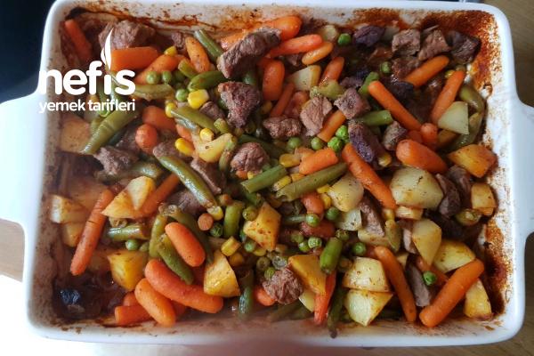 Fırında Sebzeli Et Tarifi