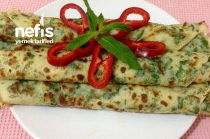 Bol Yeşillikli Krep Tarifi