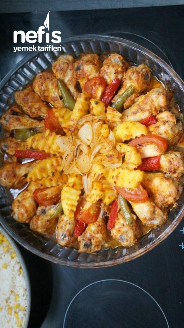 Mangal Tadında Fırında Soslu Tavuk