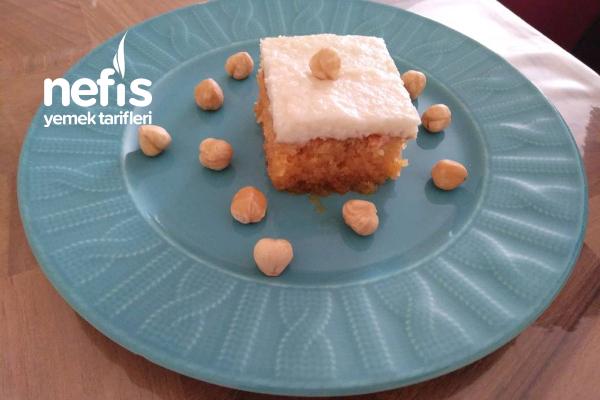 Kremalı Ekmek Kadayıfı (Karamelize Şerbetli) Tarifi