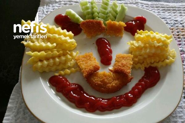 Tavuk Şinitzel ( Çocuklara Özel Sunumu İle) Tarifi