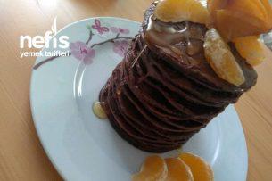 Çikolatalı Ve Ballı Pankek Kulesi (16 Katlı) Tarifi