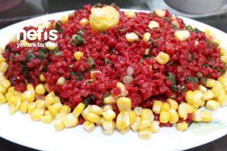 Kırmızı Pancardan Bulgur Salatası Tarifi