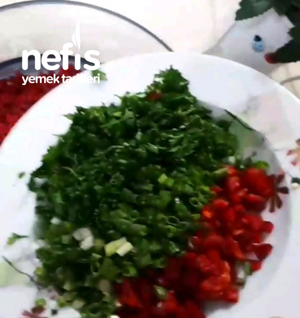 Kırmızı Pancar Dan Bulgur Salatası