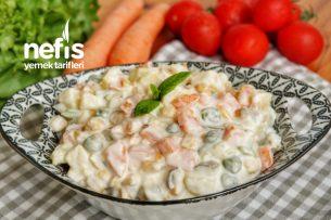5 Dakikada Rus Salatası Tarifi (videolu)