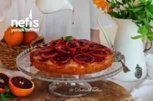Fındık Unlu Kan Portakallı Kek Tarifi