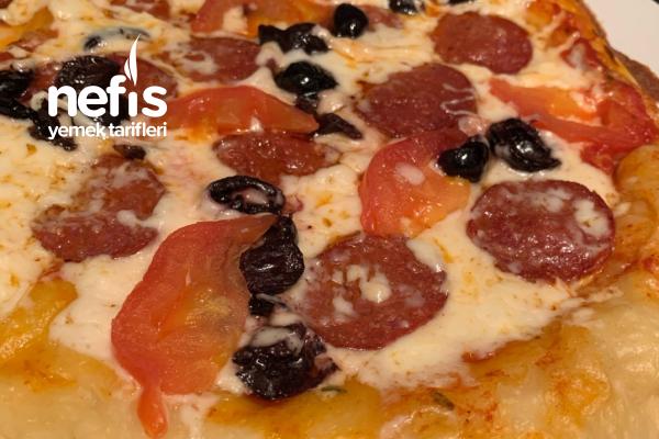 Pratik Pizza Tarifi (Tavada)