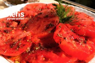 Suyuna Ekmek Banmalık Kahvaltılık Domates Tarifi