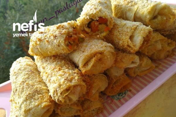 Tavuklu Sebzeli Börek (Garnitürlü) Tarifi