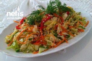 Kore Usulü Lahana Salatası Tarifi