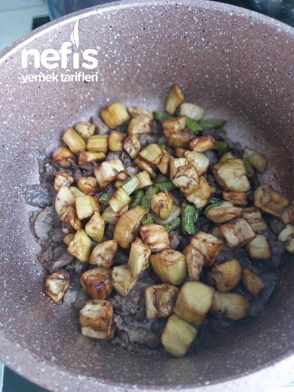 Etli Patlıcanlı (Maklube) Pilavı