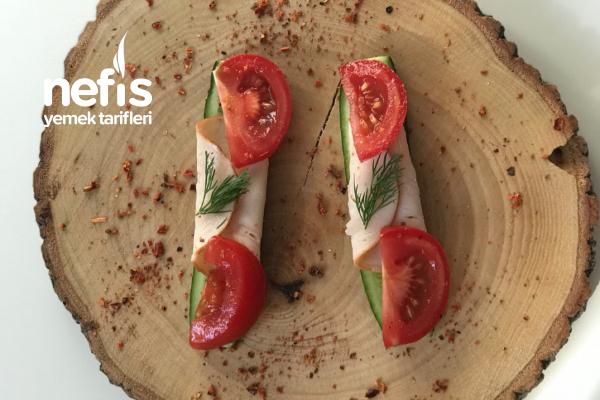 Proteinli Salatalıklı Ara Öğün