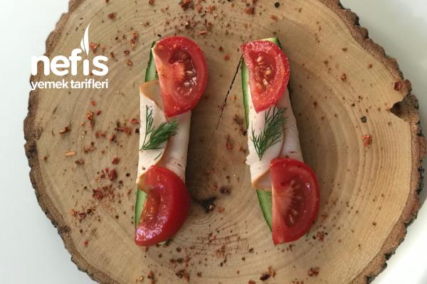 Proteinli Salatalıklı Ara Öğün Tarifi