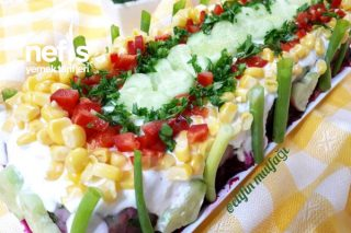 3 Renkli Patates Salatası Tarifi