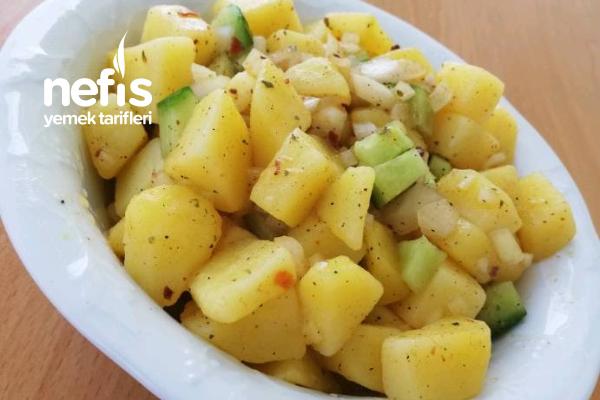 Sadece 3 Malzemeli Patates Salatası Tarifi