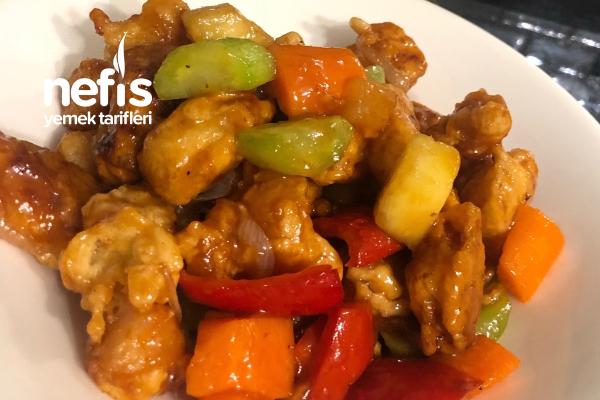 Uzak Doğu Mutfağının En Lezzetli Tarifi Tatlı Ekşi Soslu Tavuk