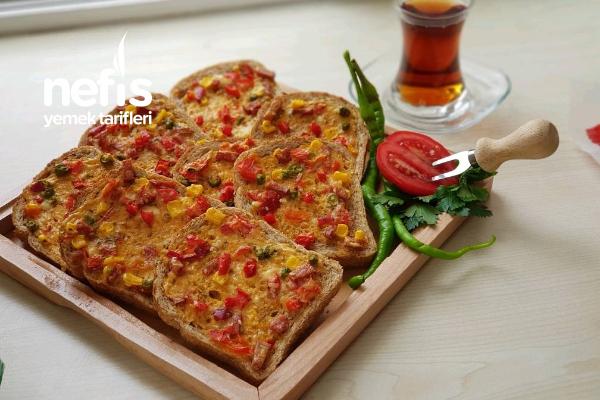 Bayat Ekmek Pizzası (Tembel Pizza) Tarifi