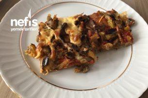 Patlıcanlı Mantarlı Pizza Tarifi