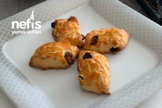 Pastane Usulü Üzümlü Kurabiyem (Kıyır Kıyır) Tarifi